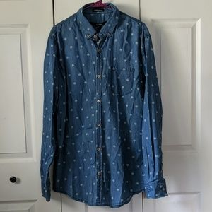 Chambray Leaf Button-up